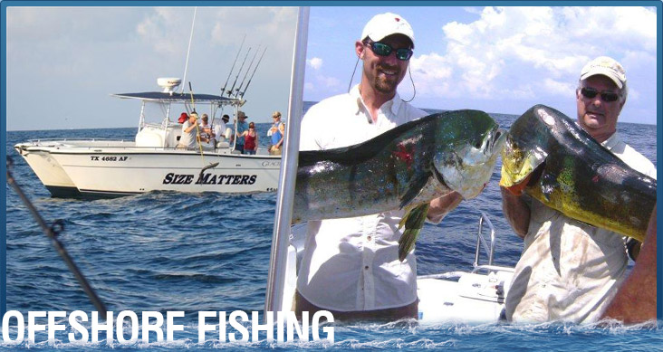 Surfside beach fishing charters offshore charter fishing for Deep sea fishing freeport tx